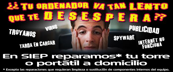 SIEP, dirección de correo, email - Servicio Informático El Prat, reparación de ordenadores, diseño de páginas web